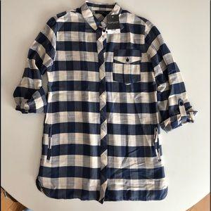 Topshop Buffalo Check Shirt Dress NWT